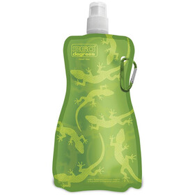 360° degrees Flexi Bottle 750ml, gecko on green